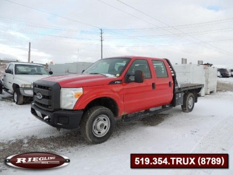 2011 Ford F250 SD Crew Flatbed